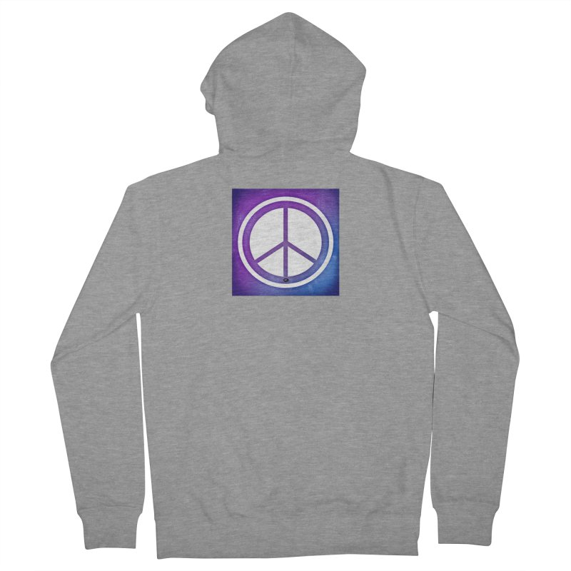 Peace 1 Men's French Terry Zip-Up Hoody by Karmic Reaction Art