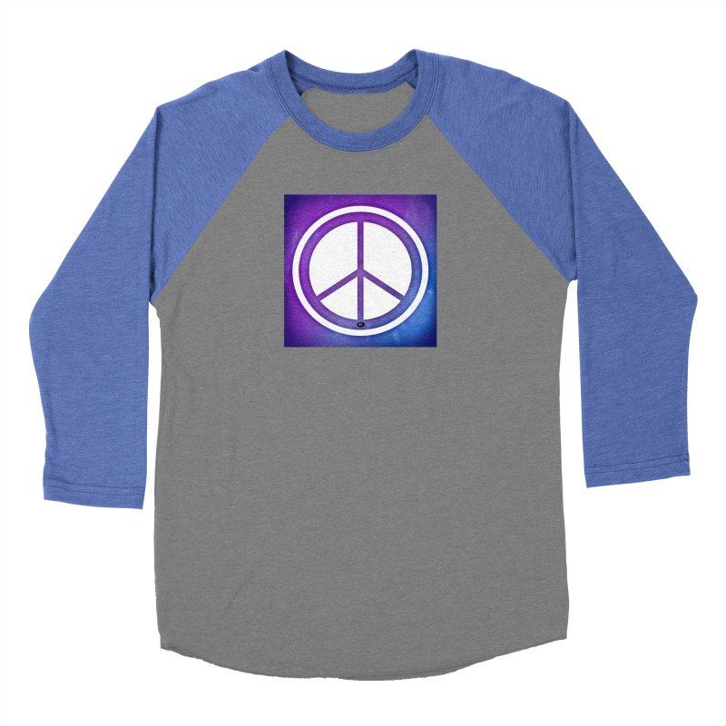 Peace 1 Men's Baseball Triblend Longsleeve T-Shirt by Karmic Reaction Art