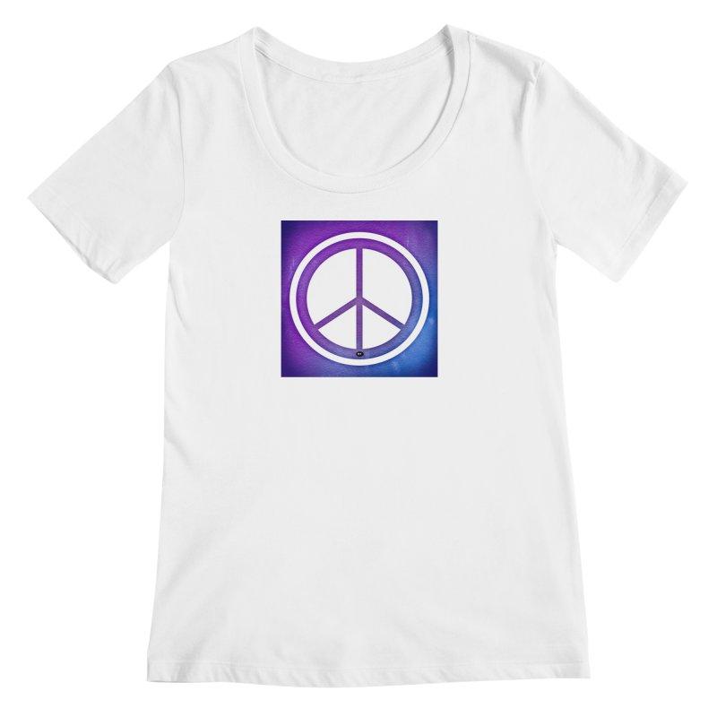 Peace 1 Women's Regular Scoop Neck by Karmic Reaction Art