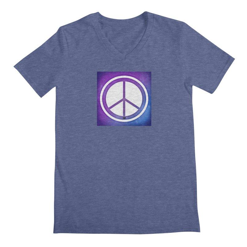 Peace 1 Men's Regular V-Neck by Karmic Reaction Art