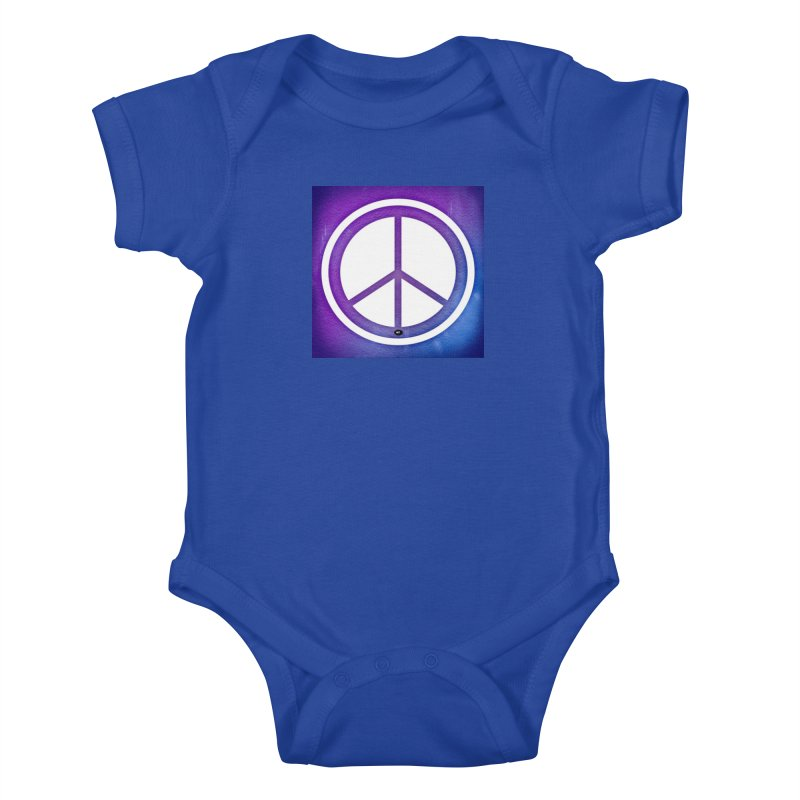 Peace 1 Kids Baby Bodysuit by Karmic Reaction Art