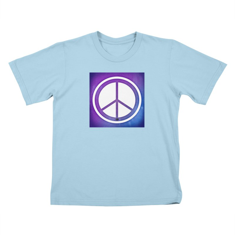 Peace 1 Kids T-Shirt by Karmic Reaction Art