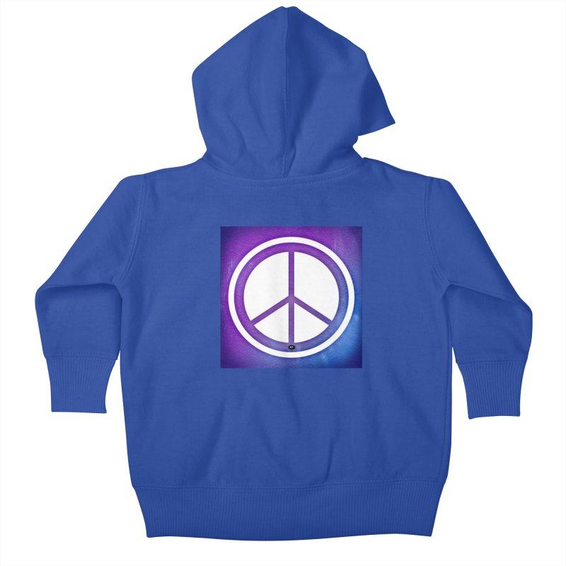 Peace 1 Kids Baby Zip-Up Hoody by Karmic Reaction Art
