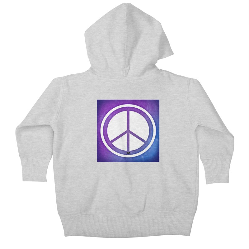 Peace 1 Kids Baby Zip-Up Hoody by Karmic Reaction Art
