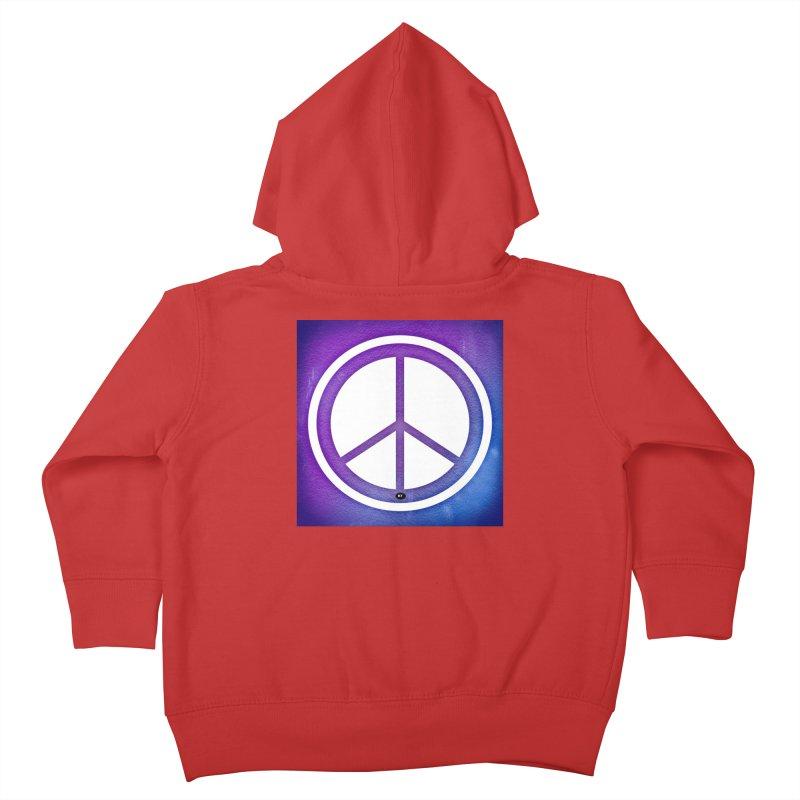 Peace 1 Kids Toddler Zip-Up Hoody by Karmic Reaction Art