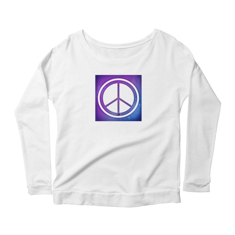 Peace 1 Women's Scoop Neck Longsleeve T-Shirt by Karmic Reaction Art