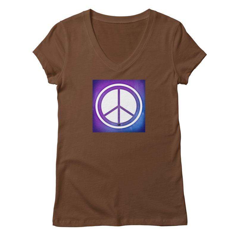 Peace 1 Women's Regular V-Neck by Karmic Reaction Art