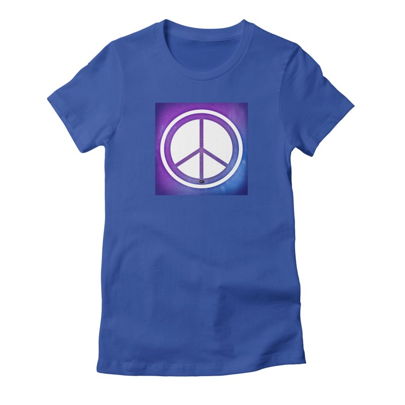 Peace 1 Women's Fitted T-Shirt by Karmic Reaction Art