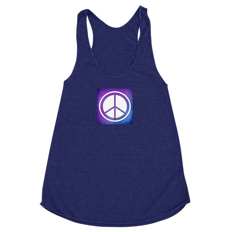 Peace 1 Women's Racerback Triblend Tank by Karmic Reaction Art