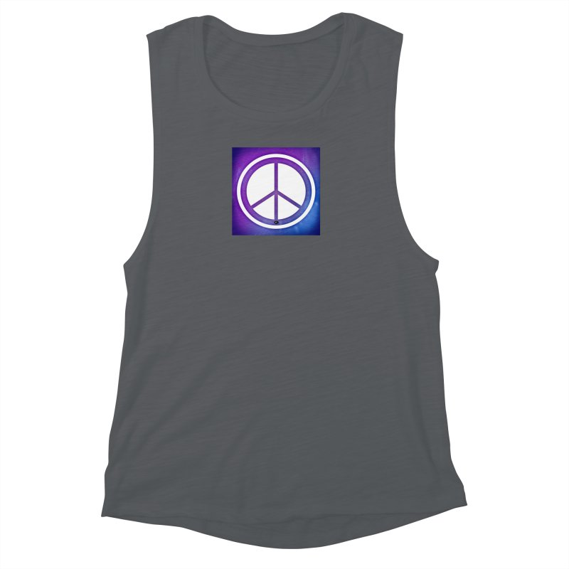 Peace 1 Women's Muscle Tank by Karmic Reaction Art