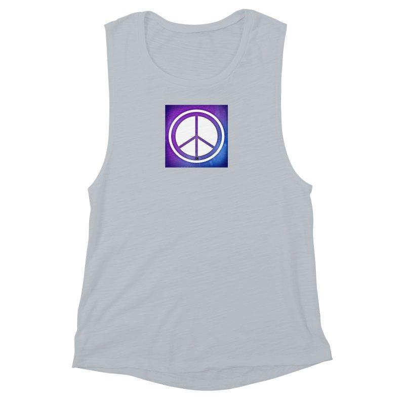 Peace 1 Women's Muscle Tank by Karmic Reaction Art