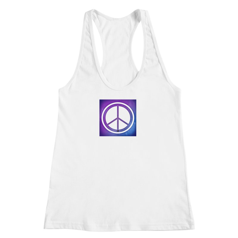 Peace 1 Women's Racerback Tank by Karmic Reaction Art