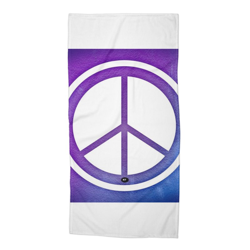 Peace 1 Accessories Beach Towel by Karmic Reaction Art