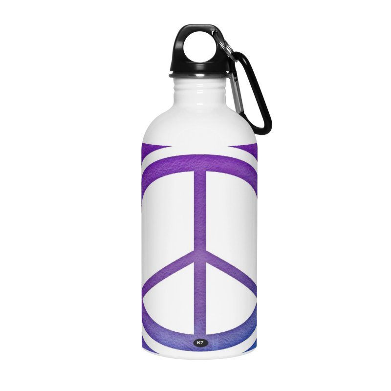 Peace 1 Accessories Water Bottle by Karmic Reaction Art