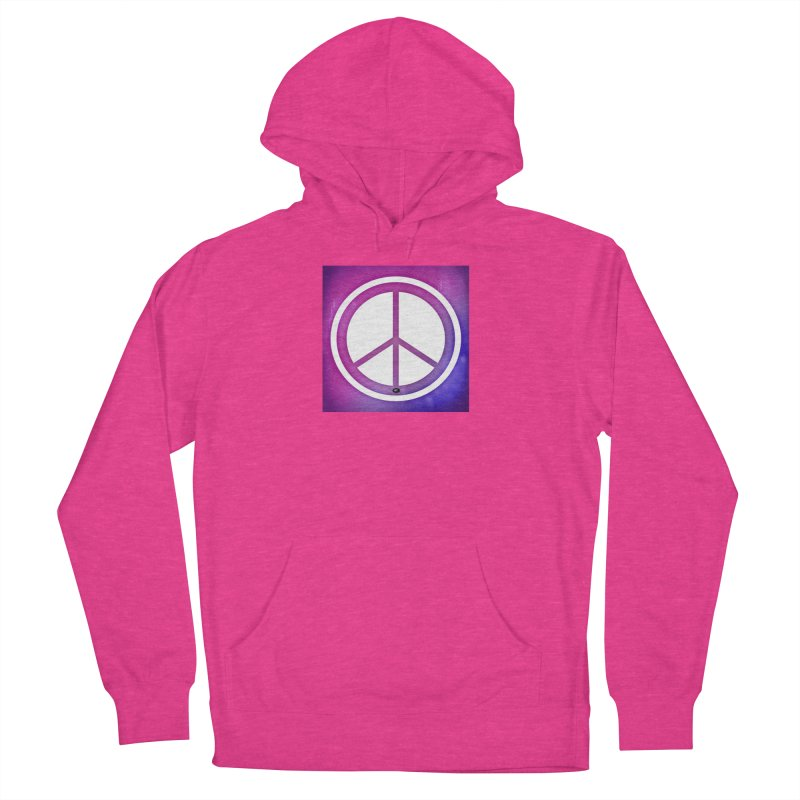 Peace 2 Women's French Terry Pullover Hoody by Karmic Reaction Art