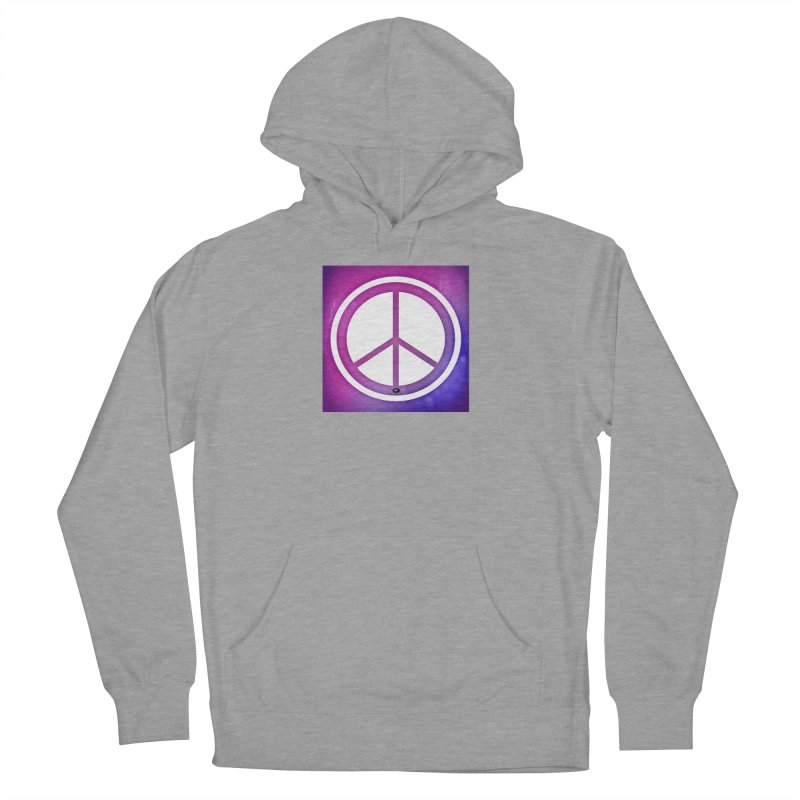 Peace 2 Men's French Terry Pullover Hoody by Karmic Reaction Art