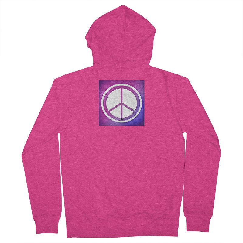 Peace 2 Women's French Terry Zip-Up Hoody by Karmic Reaction Art