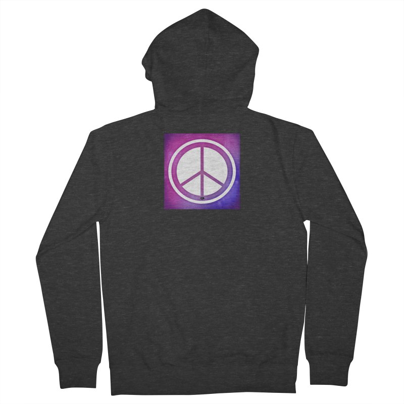 Peace 2 Men's French Terry Zip-Up Hoody by Karmic Reaction Art