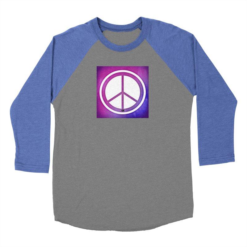 Peace 2 Men's Baseball Triblend Longsleeve T-Shirt by Karmic Reaction Art