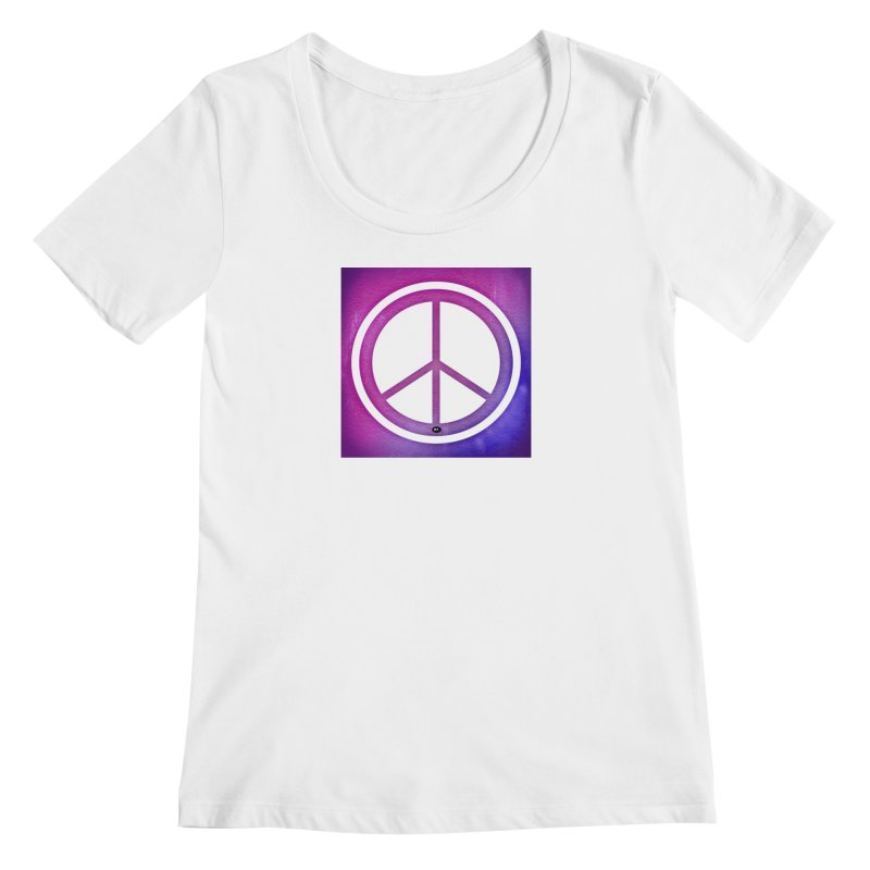 Peace 2 Women's Regular Scoop Neck by Karmic Reaction Art