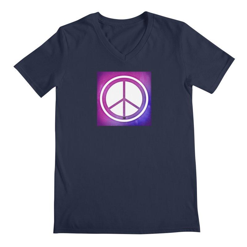 Peace 2 Men's Regular V-Neck by Karmic Reaction Art