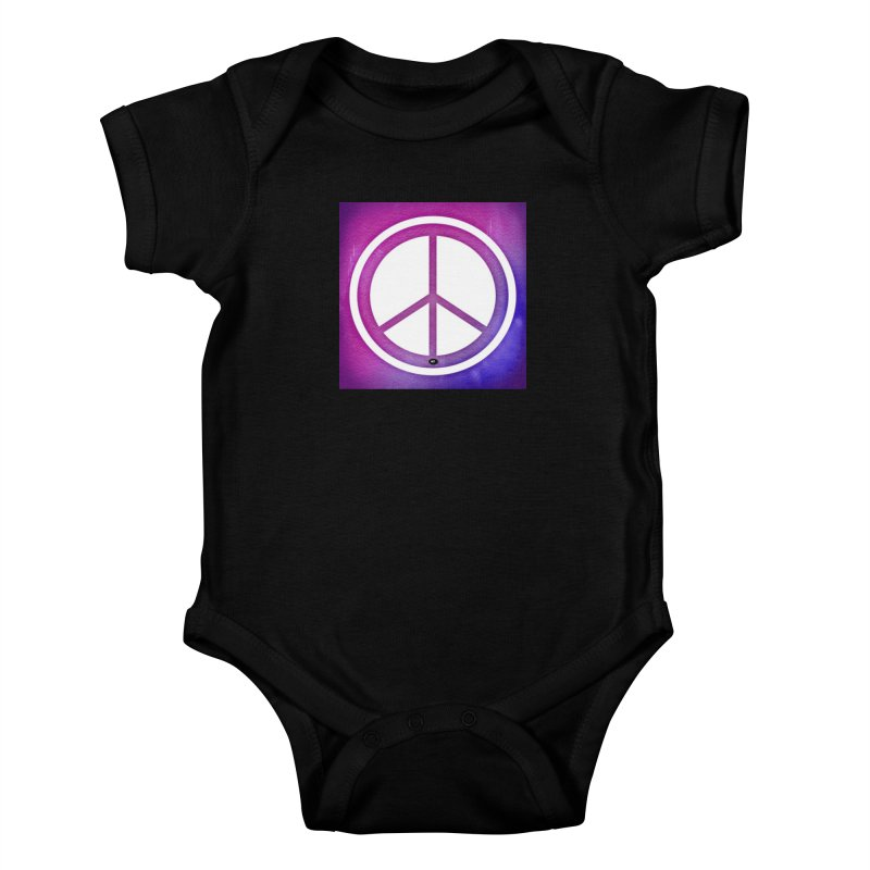 Peace 2 Kids Baby Bodysuit by Karmic Reaction Art