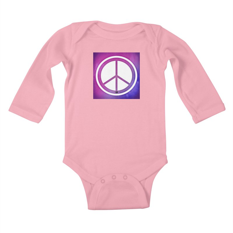 Peace 2 Kids Baby Longsleeve Bodysuit by Karmic Reaction Art