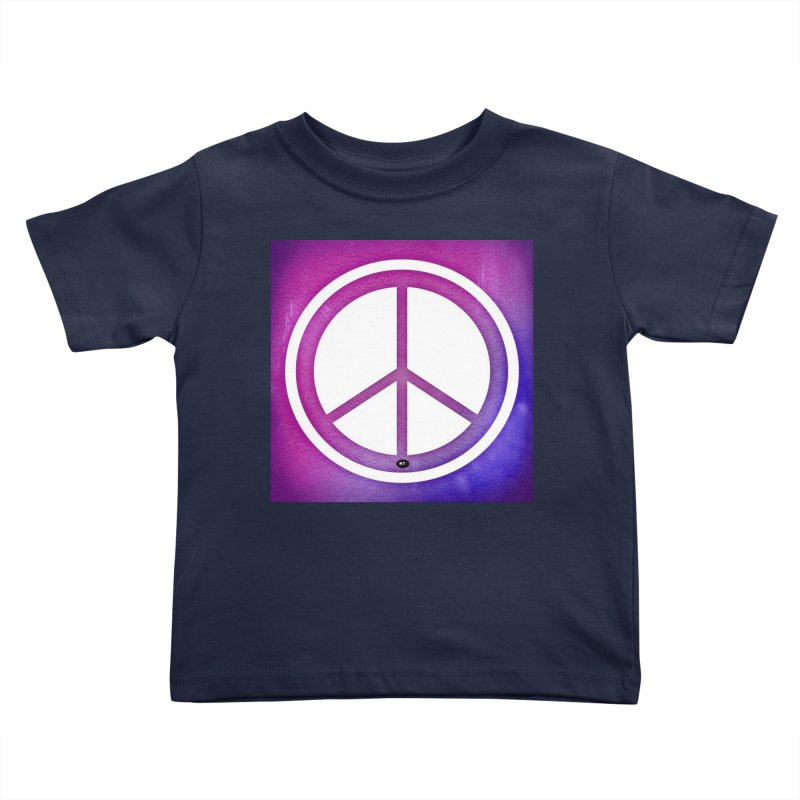 Peace 2 Kids Toddler T-Shirt by Karmic Reaction Art