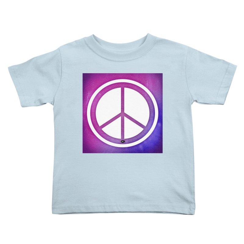 Peace 2 Kids Toddler T-Shirt by Karmic Reaction Art