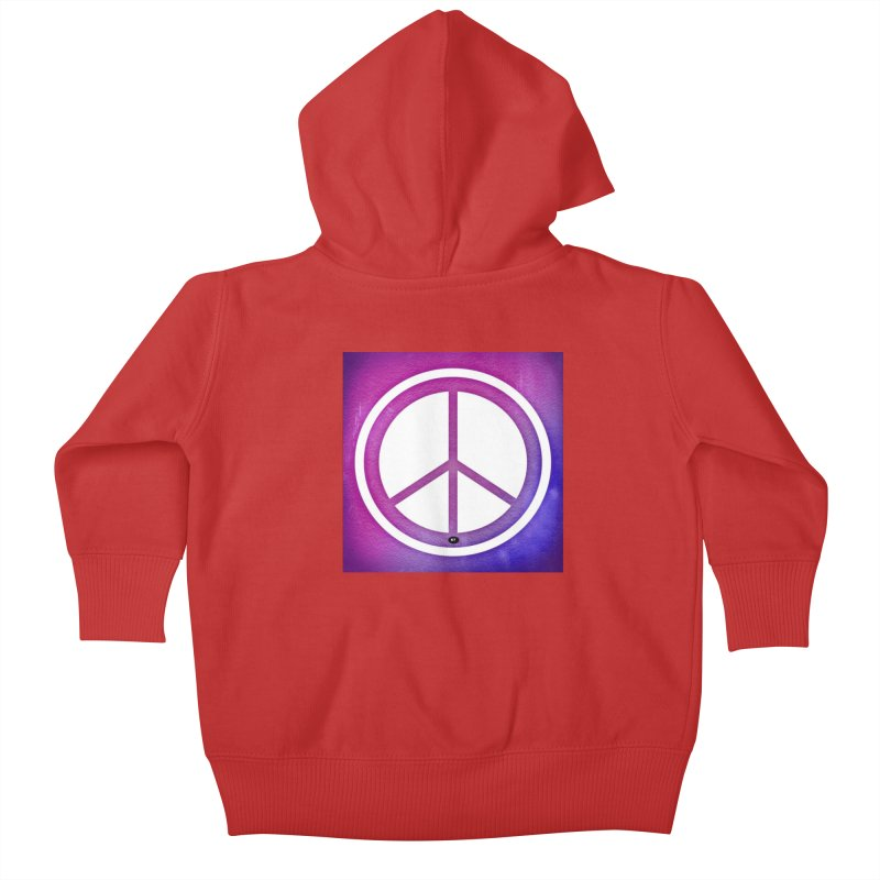 Peace 2 Kids Baby Zip-Up Hoody by Karmic Reaction Art