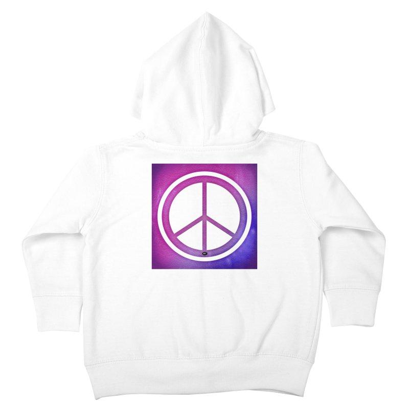 Peace 2 Kids Toddler Zip-Up Hoody by Karmic Reaction Art