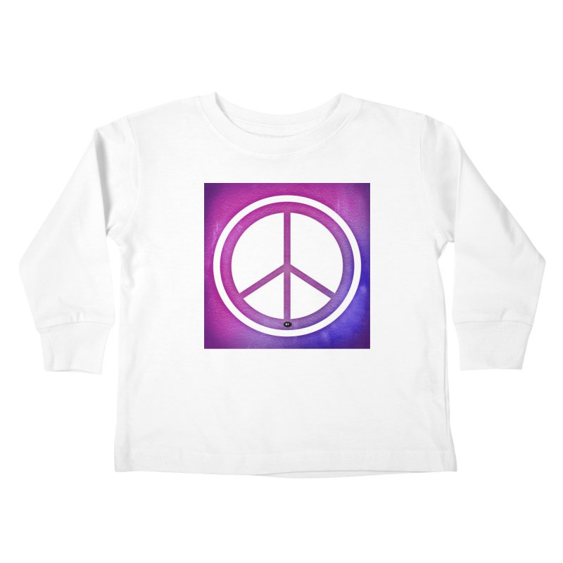 Peace 2 Kids Toddler Longsleeve T-Shirt by Karmic Reaction Art
