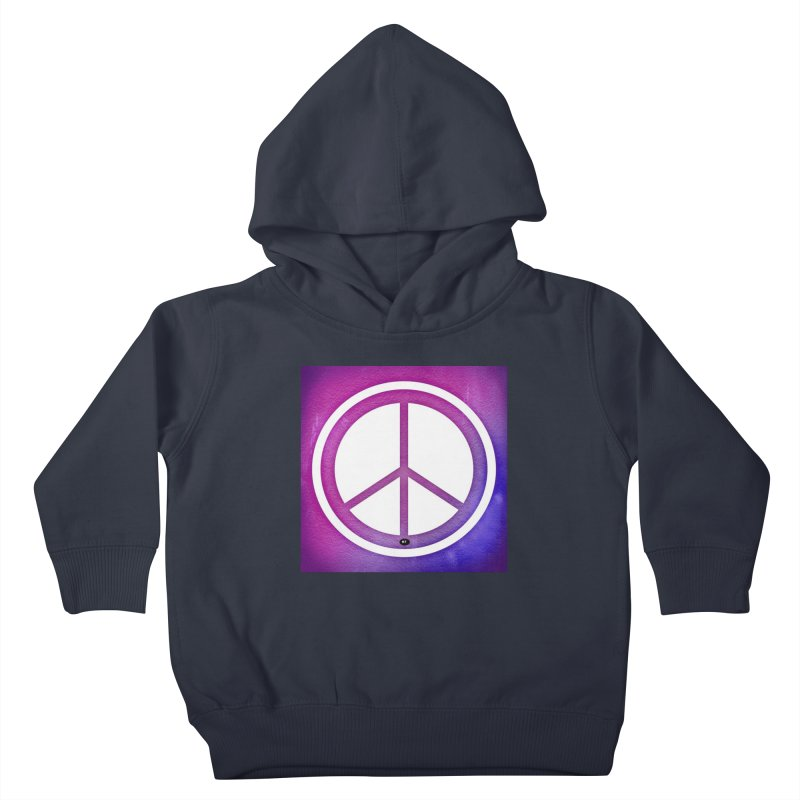 Peace 2 Kids Toddler Pullover Hoody by Karmic Reaction Art