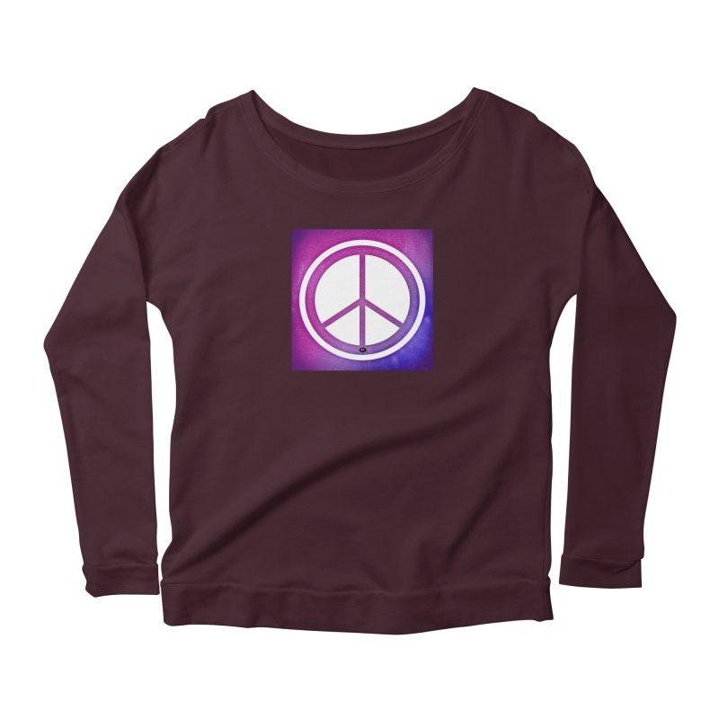Peace 2 Women's Scoop Neck Longsleeve T-Shirt by Karmic Reaction Art