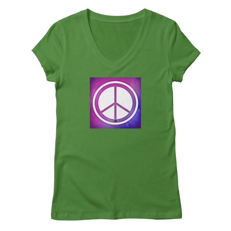 Peace 2 Women's Regular V-Neck by Karmic Reaction Art