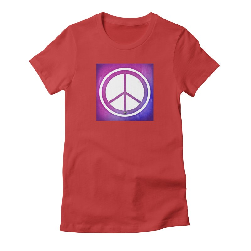 Peace 2 Women's Fitted T-Shirt by Karmic Reaction Art