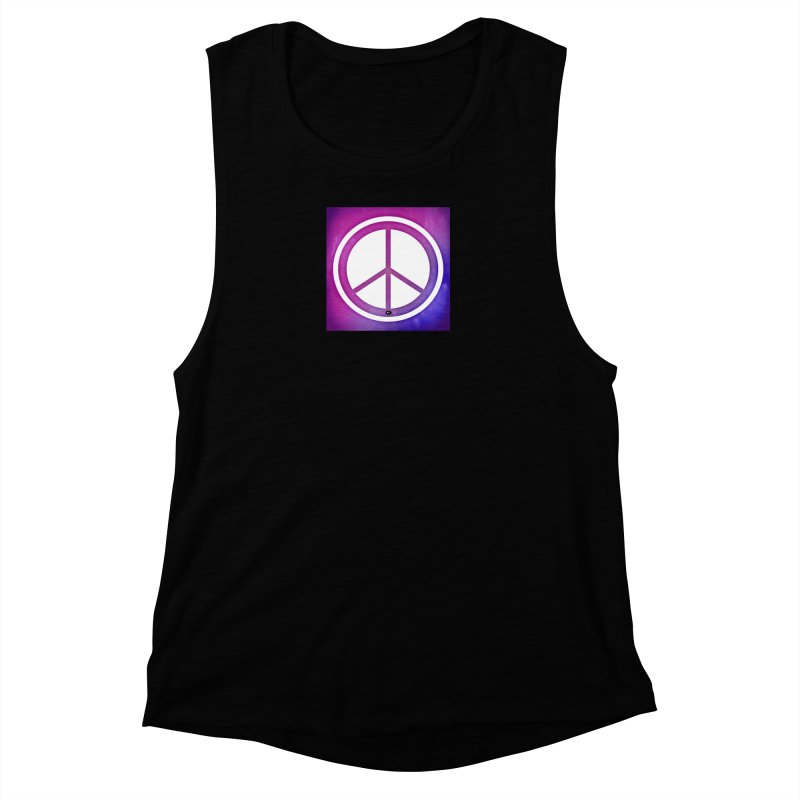 Peace 2 Women's Muscle Tank by Karmic Reaction Art