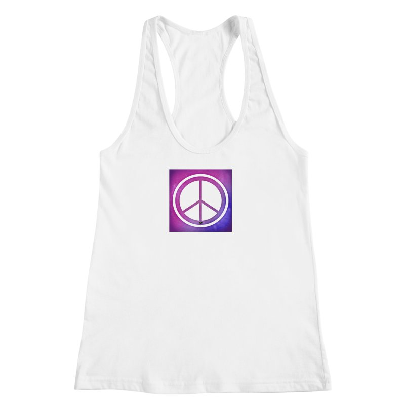 Peace 2 Women's Racerback Tank by Karmic Reaction Art