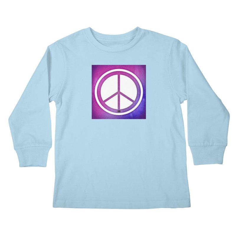 Peace 2 Kids Longsleeve T-Shirt by Karmic Reaction Art