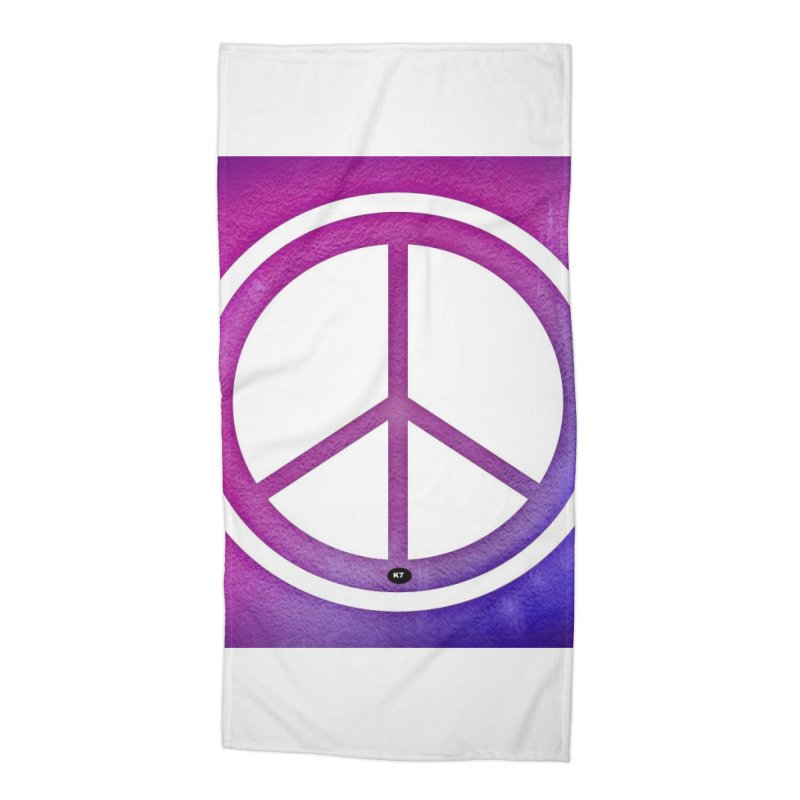 Peace 2 Accessories Beach Towel by Karmic Reaction Art