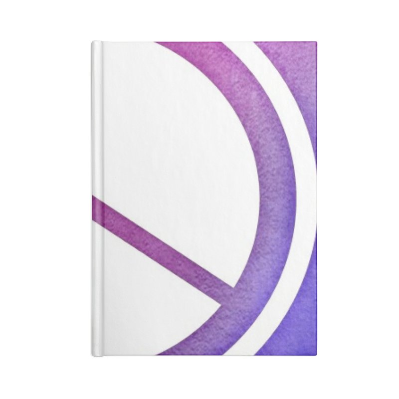 Peace 2 Accessories Blank Journal Notebook by Karmic Reaction Art