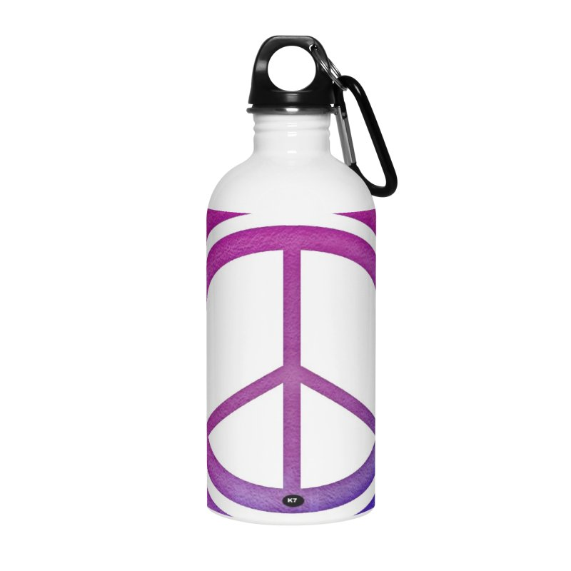 Peace 2 Accessories Water Bottle by Karmic Reaction Art