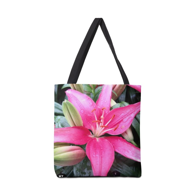 Pink Flower Accessories Tote Bag Bag by Karmic Reaction Art
