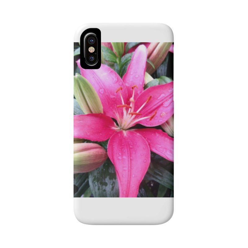 Pink Flower Accessories Phone Case by Karmic Reaction Art