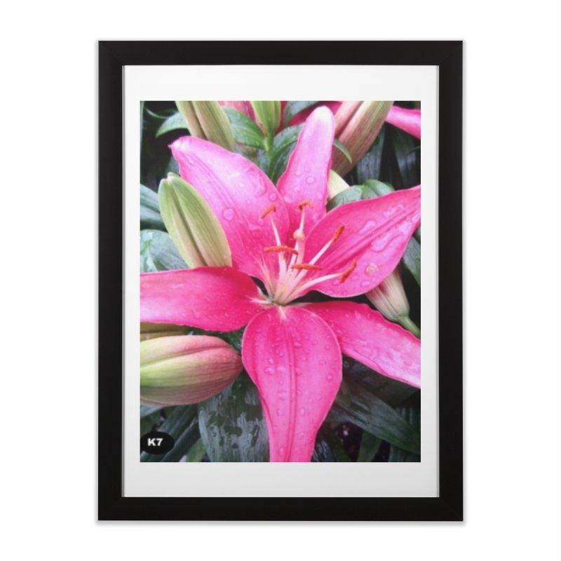 Pink Flower Home Framed Fine Art Print by Karmic Reaction Art