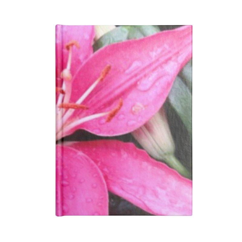 Pink Flower Accessories Blank Journal Notebook by Karmic Reaction Art