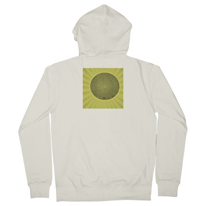 Sunshine Men's French Terry Zip-Up Hoody by Karmic Reaction Art