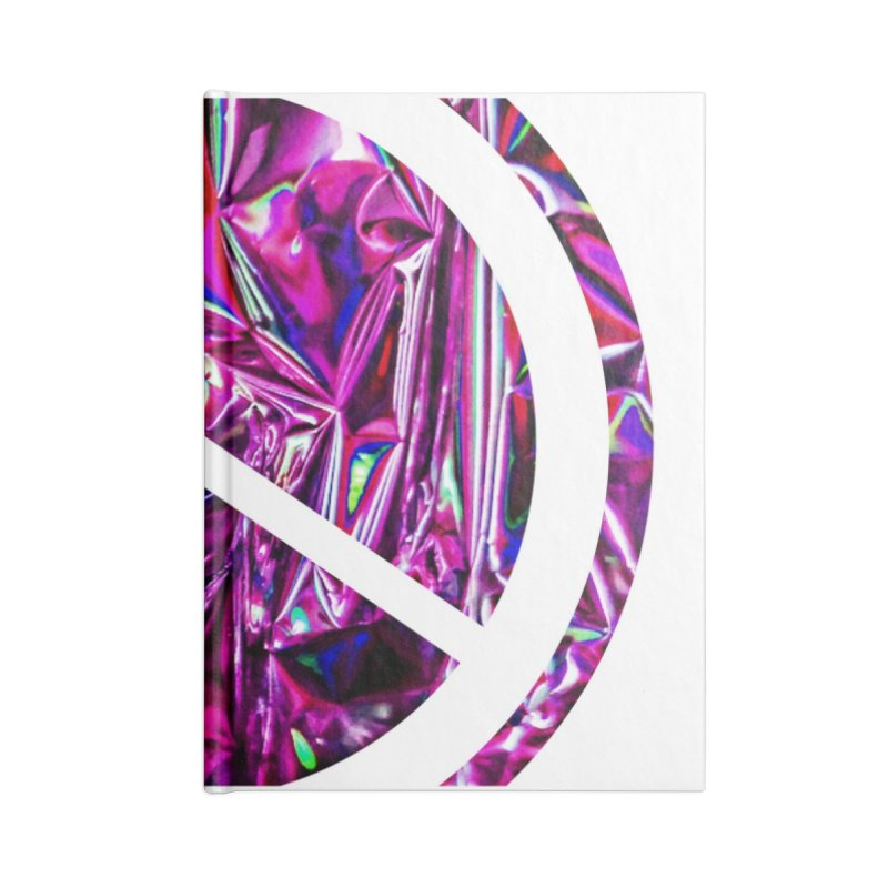 Peace 3 Accessories Blank Journal Notebook by Karmic Reaction Art