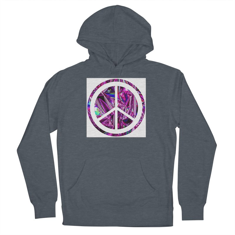 Peace 3 Women's French Terry Pullover Hoody by Karmic Reaction Art