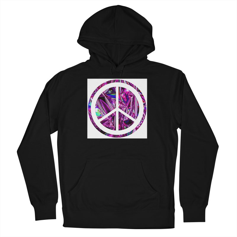 Peace 3 Men's French Terry Pullover Hoody by Karmic Reaction Art
